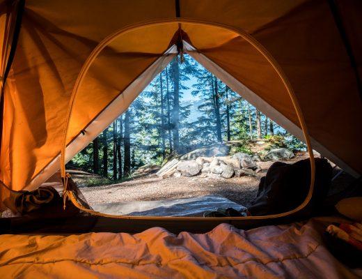 vue intérieur tente